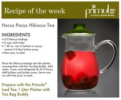 Hibiscus tea with lychee (sub canned for fresh lychee!)