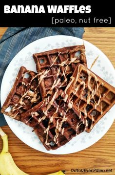 Paleo Banana Waffles | DoYouEvenPaleo.net