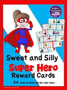 FREE 24 Sweet and Silly Superhero Classroom Reward Cards/Coupons allow your students to have some fun as they are rewarded for their good work. These cards can be handed out individually or given to students on any day that you wish to make Super! Elementary Teacher, Elementary Education, Teacher Pay Teachers, School Resources, Teacher Resources, Classroom Reward Coupons, Superhero Classroom, Special Needs Students, Staff Meetings
