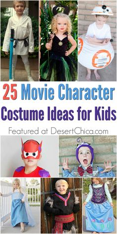 Need a little costume inspiration? Check out these Movie Character Halloween Costume ideas. via @DesertChica