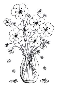 vase of flowers... this pin takes you to a whole bunch of free printables, but I cannot find this particular one to 'pin' straight to it's image!