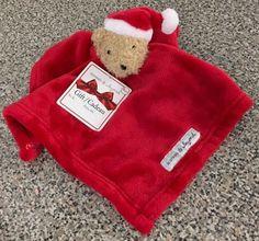 Blankets And & Beyond Baby Security Red Santa Hat Teddy Bear Nunu Christmas New #BlanketsBeyond