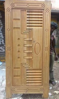 most beautiful door design images gallery for your home Modern Wood Doors, Contemporary Front Doors, Wooden Front Door Design, Wooden Front Doors, Single Main Door Designs, Latest Door Designs, Flush Door Design, Door Design Images, Showroom Interior Design