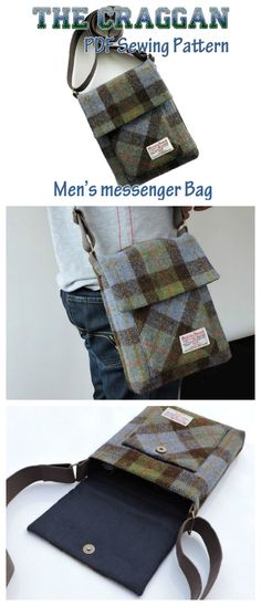 The Craggan, mens messenger sewing bag pattern. I made this tough crossbody bag for my brother-in-law and he was most happy. He now uses his bag everyday to carry all his essentials including his iPad.