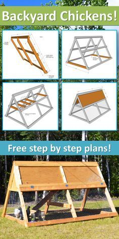 Portable Chicken Coop, but I would do this for the guinea pigs