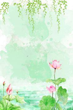Summer Backgrounds, Flower Backgrounds, Wallpaper Backgrounds, Flower Background Wallpaper, Flower Phone Wallpaper, Vector Background, Watercolor Flowers, Watercolor Art, Watercolor Wallpaper