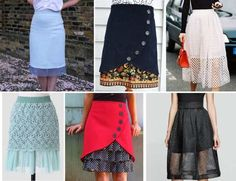 EVERYDAY SEW: ΕΠΙΜΗΚΥΝΣΗ ΦΟΥΣΤΑΣ Waist Skirt, Dress Skirt, High Waisted Skirt, Lengthen Dress, Skirt Tutorial, Refashion, Tutorials, Skirts, Diy