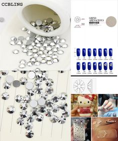 [Visit to Buy] CCBLING crystal Silver ss3-ss30 Glue On Non Hotfix Flatback rhinestone nail art decorations Phone case DIY material #Advertisement