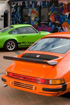 John Glynn's Classic Porsche Blog » Lime Green 1974 2.7 and 1976 Orange 3.0 Carrera