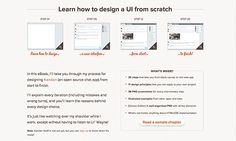 Learn how to design UI from scratch