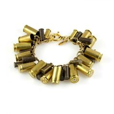 "by Astali Jewelry-- ""ya might be a redneck if yore boyfriend went a huntin rabbits and made you a bracelet out of the shells he shot em with"".... --- I could not resist. Sorry."