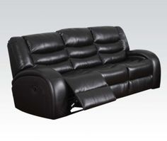 Acme Furniture - Dacey Bonded Leather Match Motion Sofa in Espresso - 50740