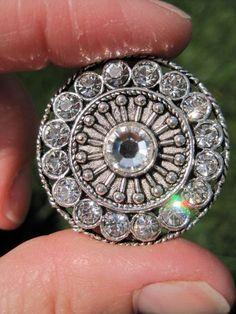 Amazing Round Drawer Knob, cabinet pull with Swarovski Crystals (MK113). $8.25, via Etsy.
