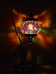 """Abajur Turco """"Mosaico Colorido"""" 45cm - Luminária"""