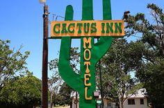 "Route 66 - Cactus Inn Motel, McLean, Texas. ""The Fine Art Photography of Frank Romeo."""