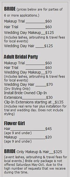 Bridal Makeup Hair Prices Cleveland Beauty Airbrush