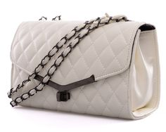Sarah Birds Boutique - Hailey Quilted Faux Leather Handbag with Chain Strap in Biege, £16.99 (http://sarahbirdsboutique.co.uk/hailey-quilted-faux-leather-handbag-with-chain-strap-in-biege/)
