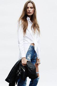 #classic #leatherjacket #boyfriendjeans