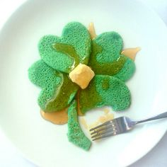 Four Leaf Clover Pancakes - St. Patrick's Day Recipes - Delish.com