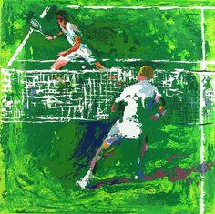Leroy Neiman Tennis painting