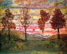 Egon Schiele - Four Trees (1917) ☀