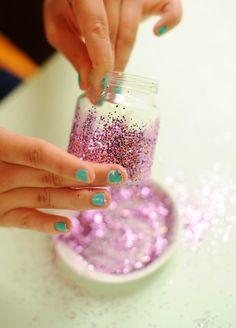 sparkly dinner table