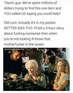 Summary to titanic Titanic Funny, Titanic Movie Facts, Rms Titanic, Titanic History, Funny Relatable Memes, Funny Jokes, Fun Funny, That's Hilarious, Stupid Memes