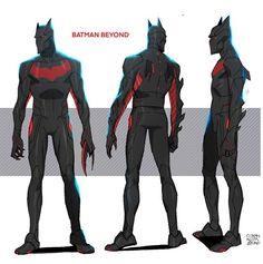 Character Design Animation, Character Art, Solgaleo Pokemon, Foto Batman, Batman Redesign, Batman Suit, Dope Cartoon Art, Superhero Characters, Batman Beyond