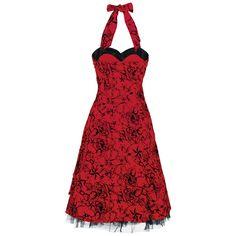 Red Flocking Long Dress von H London