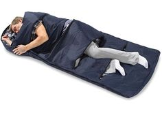 Zippered Vents Sleeping Bag lets you personalize your sleeping needs. Love it!