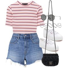 Sin título #12467 by vany-alvarado on Polyvore featuring polyvore, fashion, style, T By Alexander Wang, Superga, Chanel, ASOS, Ray-Ban and clothing