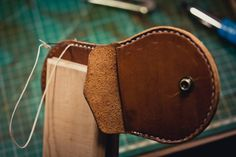 http://chicerman.com  northwardhandcraft:  Leather coin purse  #accessories
