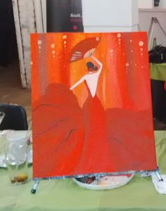 My first attempt at painting.  Loved the Paint Nite at Boomhuise in Krugersdorp North