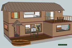 전원주택 건축시 20가지는 챙겨보고 시작하자 - ★부동산관련서식/자료 - 토지사랑모임카페 Minecraft Houses, Sims, Floor Plans, Cabin, Flooring, House Styles, Building, Room, Home Decor