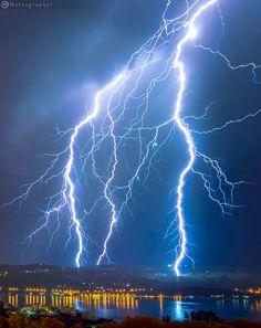 Raw Power by Manolis Thravalos Meteography......  #greece #rain #dark #lightning #weather #storm #thunderstorm #danger #flash #thunder #electricity #static #intensity #charge #strike #thunderbolt #samos #thrill #discharge #calamity #meteography #meteographer
