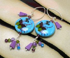 Butterfly Earrings Turquoise Earrings by - Wild Ginger Spiro Handmade Jewelry, Unique Jewelry, Handmade Gifts, Wild Ginger, Butterfly Earrings, Turquoise Earrings, Drop Earrings, Trending Outfits, Business