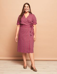 Stylish Plus-Size Fashion Ideas – Designer Fashion Tips Plus Size Vintage Dresses, Plus Size Dresses, Plus Size Outfits, Plus Size Jeans, Buy Dress, Wrap Dress, Mature Women Fashion, Plus Size Inspiration, Designer Party Wear Dresses