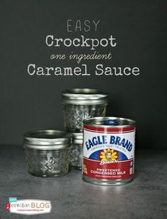 Crockpot Caramel Sauce | Make easy caramel sauce in your slow cooker with sweetened condensed milk. TodaysCreativeLife.com