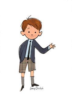 Jamey Christoph  #illustration #boy