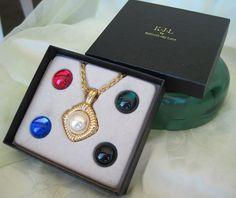 KJL Convertible Pendant Necklace Original Boxed Set