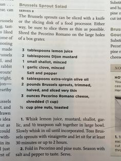 Brussel Sprout Salad recipe from America's Test Kitchen