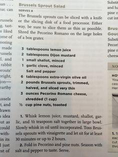 Brussel Sprout Salad Test Kitchen