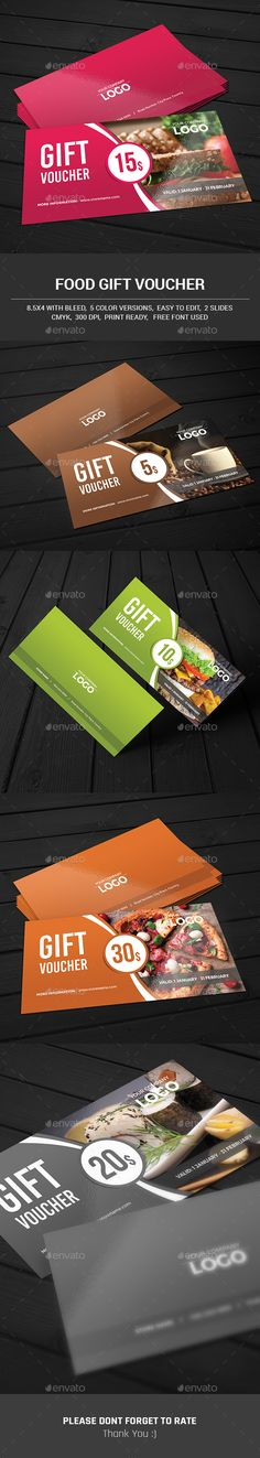 Restaurant Food Order Gift Voucher Template   Gift Vouchers