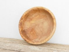 Olive Wood Bowl Wooden rounded salad bowl by TunisiaHandMade