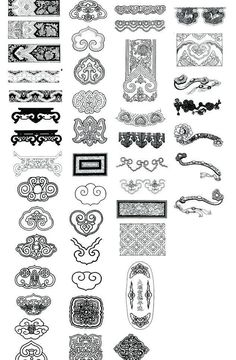 Chinese Patterns, Japanese Patterns, Chinese Design, Asian Design, Cultural Architecture, Chinese Architecture, Chinese Ornament, Chinese Element, Chinese Typography