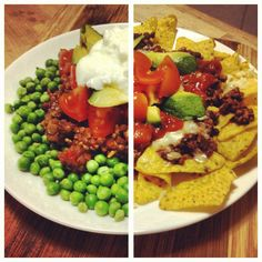 Nachos come 2 ways in my house! Mine on the left @brisbanerob on the right, both starting with @12 Week Body Transformation recipe