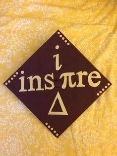 """""""I inspire change""""  High School Math teacher graduation cap."""