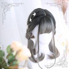 Grau / Braun Lolita Daily Perücke - New Site Kawaii Hairstyles, Pretty Hairstyles, Braided Hairstyles, Hairstyle Men, Funky Hairstyles, Formal Hairstyles, Wedding Hairstyles, Kawaii Wigs, Lolita Hair