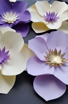 This listing includes 7 small flowers. 6 - 8 inches in size CUSTOM ORDERS WELCOME! Send custom order request with color preference and date of your . Large Paper Flowers, Paper Flowers Wedding, Paper Flower Wall, Paper Flower Backdrop, Giant Paper Flowers, Small Flowers, Diy Flowers, Flower Decorations, Fabric Flowers