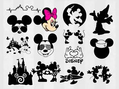 Mickey and Minnie SVG Bundle Mickey clipart Minnie cut Bambi Disney, Disney Diy, Disney Love, Disneyland Shirts, Disneyland Trip, Disney Trips, Mickey Tattoo, Disney Tattoos, Mickey Silhouette